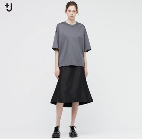 ユニクロ+JスーピマコットンオーバーサイズT(5部袖)再販の画像